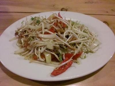 fried beansprout with salty fish