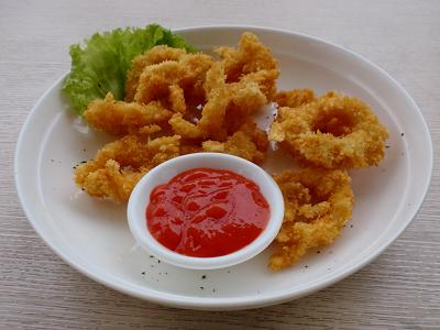 fried squid with bread crumbs